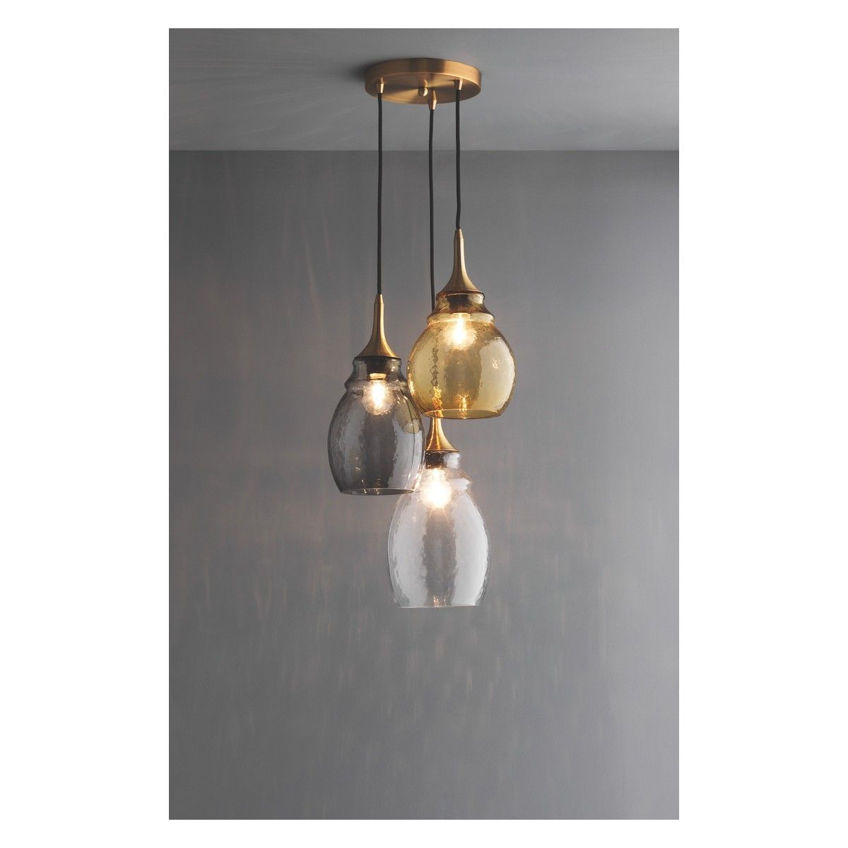 Cinders cinders tinted glass triple drop ceiling light buy now cinders cinders tinted glass triple drop ceiling light buy now at habitat uk mozeypictures Gallery