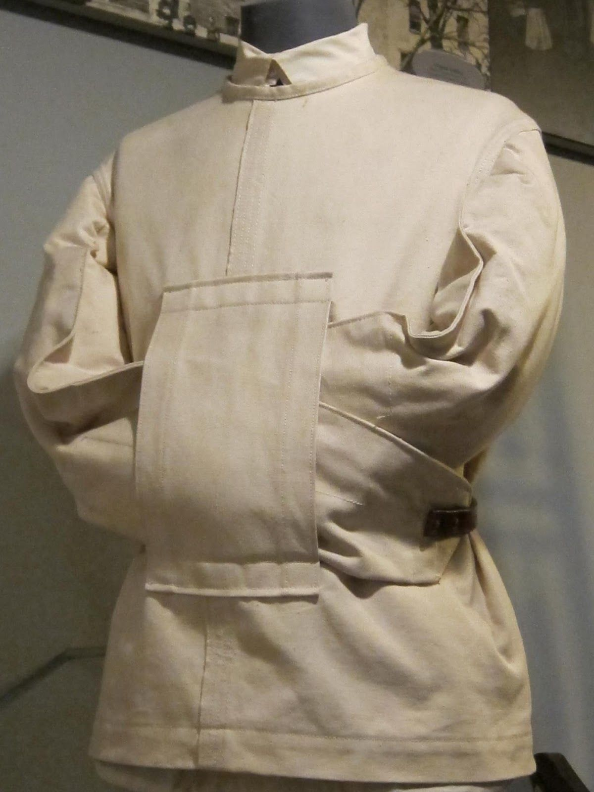 This Victorian straight jacket complies with the correct time and ...
