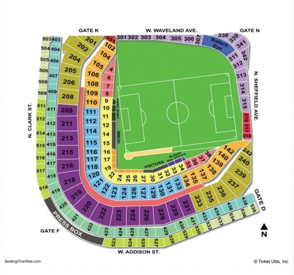 Wrigley Field Concert Seating Chart