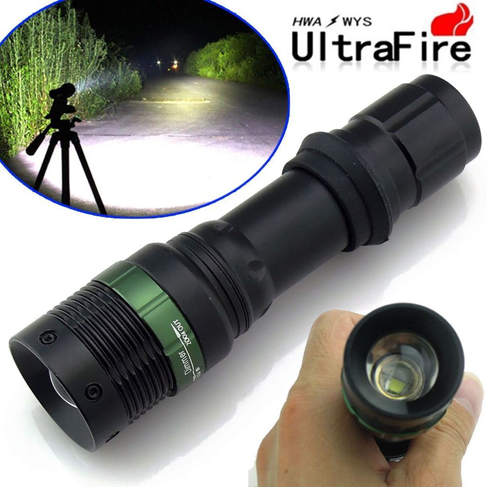 Ultrafire 10000lumens Cree Xm L T6 Tactical Zoomable 18650 Led Torch Circuit Flashlight