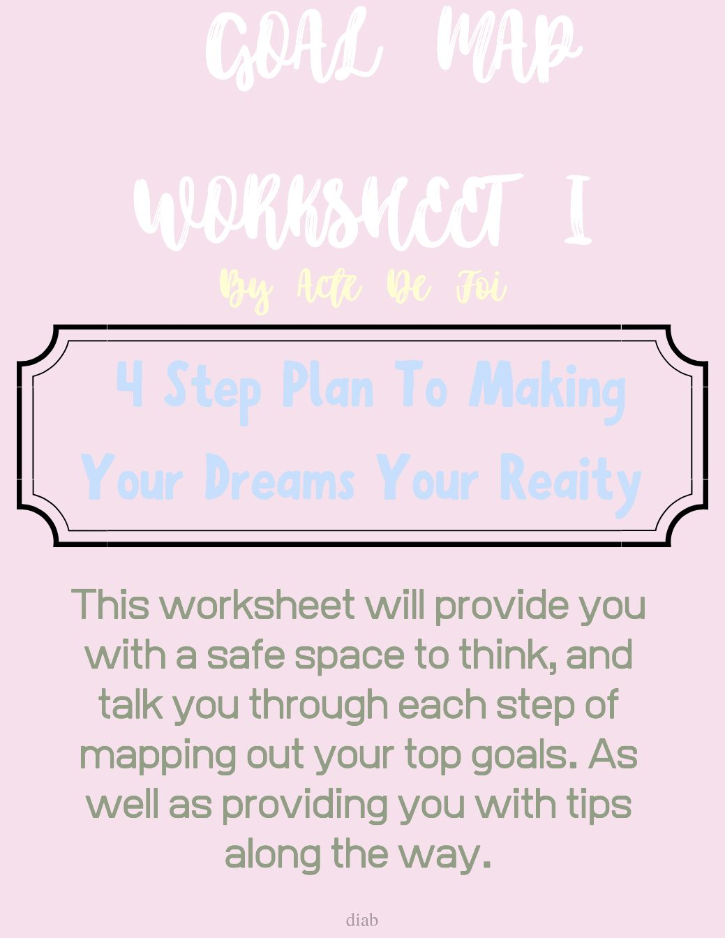 Goal Map Worksheet I In