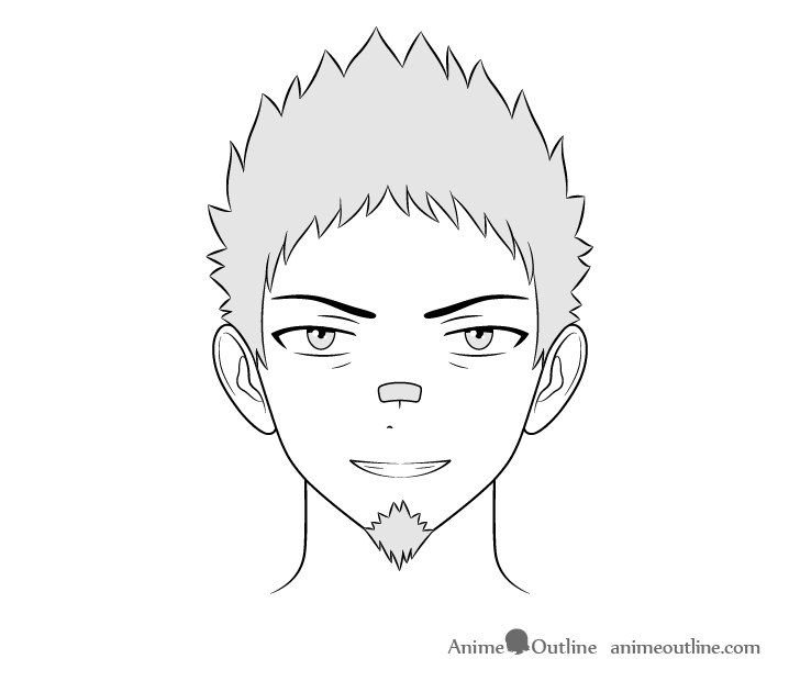 How To Draw Male Anime Characters Step By Step Animeoutline Anime Character Drawing Guy Drawing Character Drawing