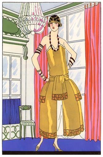 Art Deco Fashion - Fall 1924 - Designer: Paul Poiret