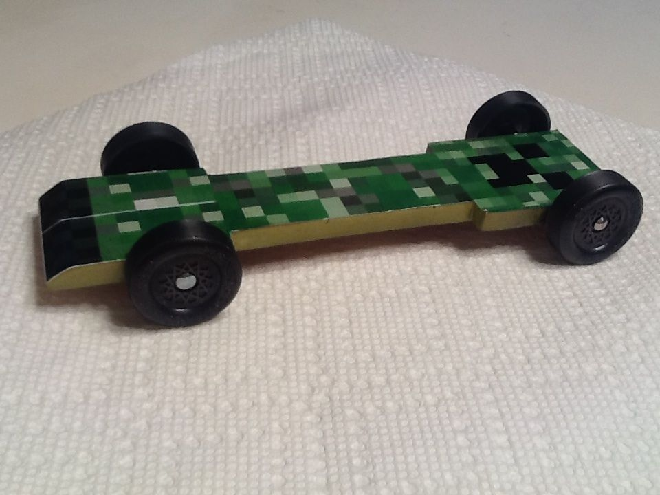 minecraft creeper pinewood derby car - Pinewood Derby Car Design Ideas