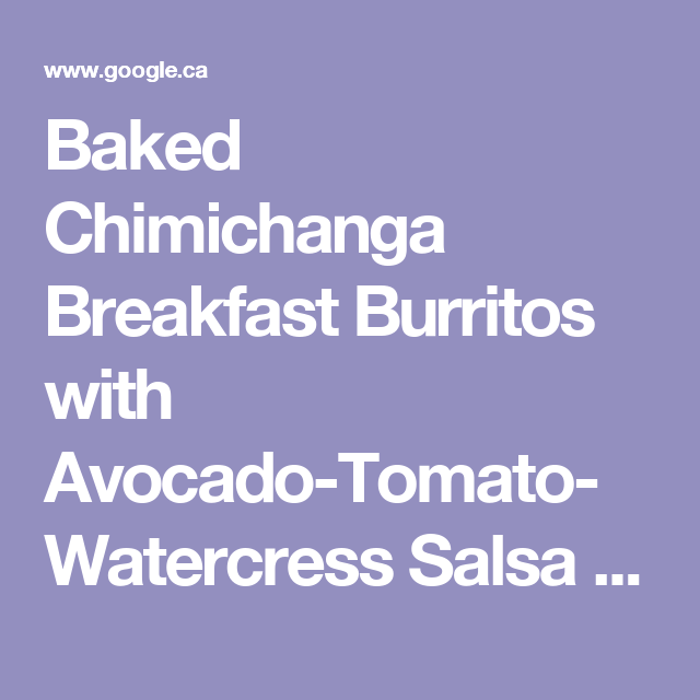 Baked chimichanga breakfast burritos with avocado tomato watercress baked chimichanga breakfast burritos with avocado tomato watercress salsa recipe bobby flay forumfinder Choice Image