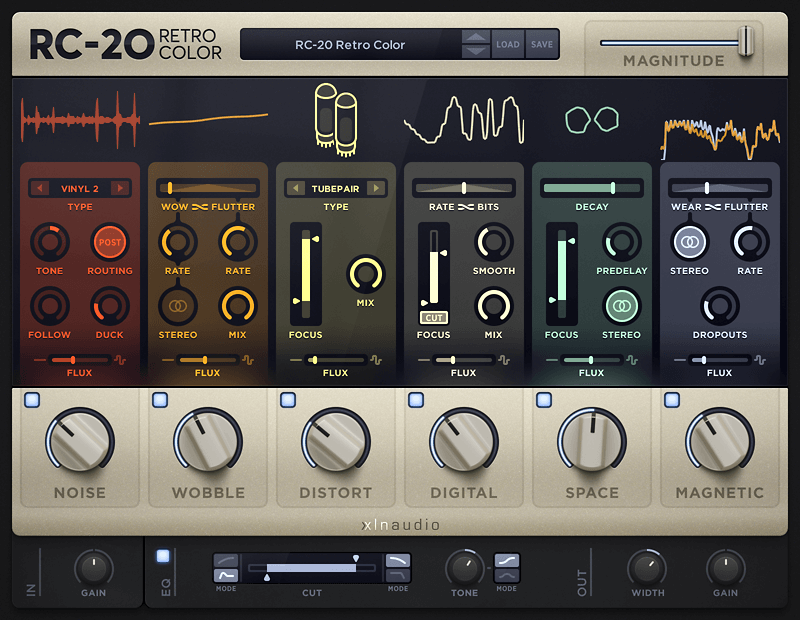 Rc 20 Retro Color Xln Audio Rc 20 Retro Color Is A Creative Effect Plugin That Adds Life And Texture To Any Recording It Easily Re Retro Color Audio Color