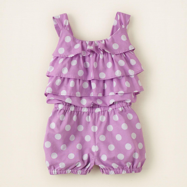 Polka dot romper | Children's Clothing | Kids Clothes | The Children's Place