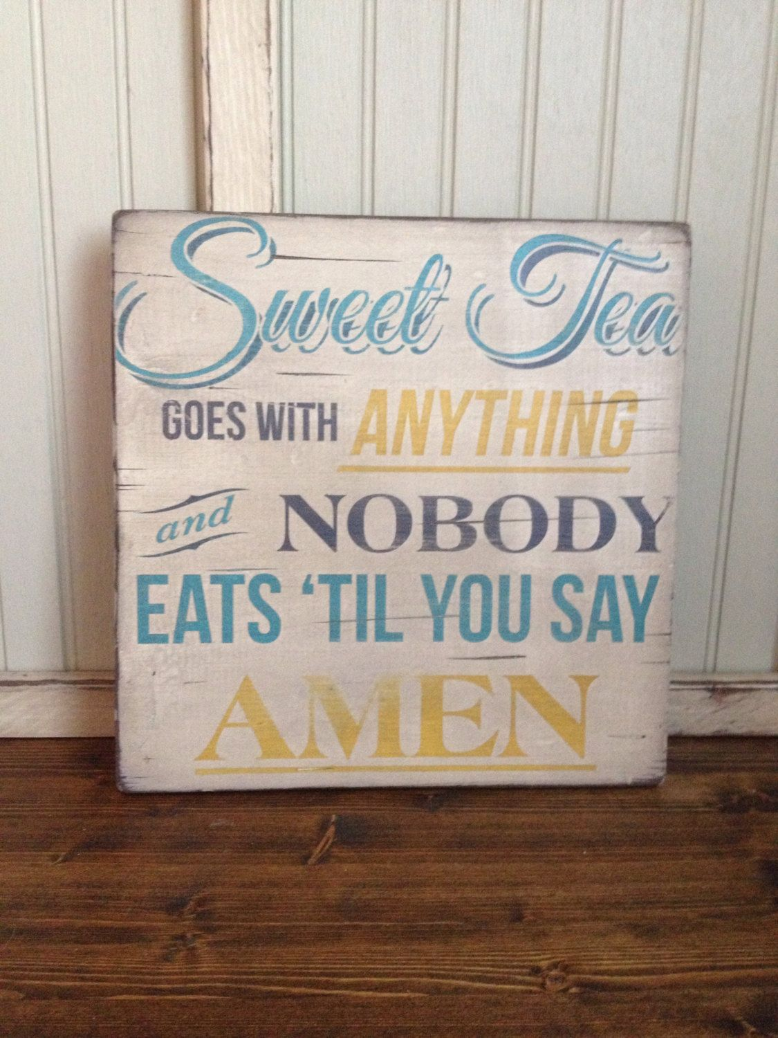Wooden Sign Quotes Southern Sweet Tea Rustic By