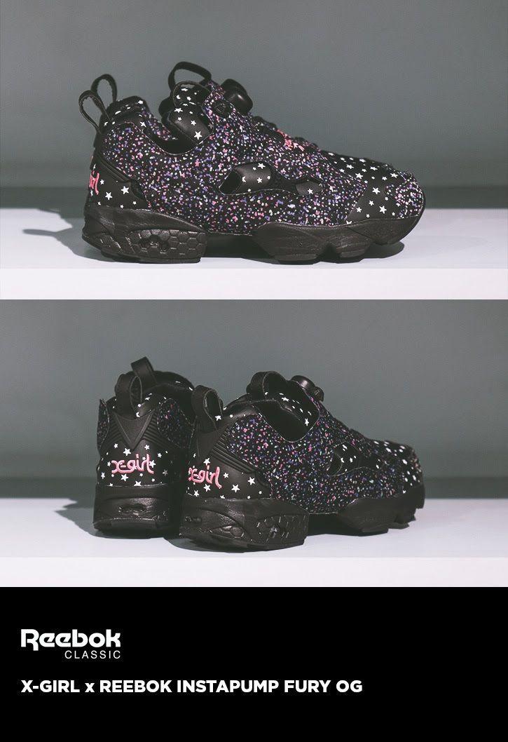 9a2de7e82e7eb7 X-Girl x Reebok Insta Pump Fury Streetwear Online