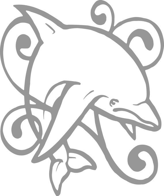 Dolphin Animal Tribal Decal  Sticker Wall Art Car Window - Custom vinyl decals designs for shirts