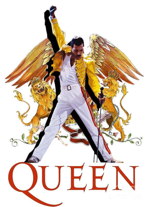 Freddie Art Print Featuring The Mixed Media Freddie Mercury Queen Logo By Sally Ayad Freddie Mercury Print Mercury