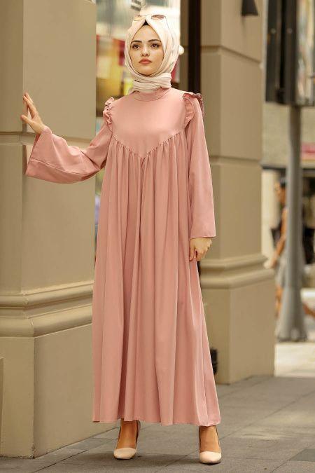 Photo of Collection Nayla – Robe Hijab à Motif de Fleurs 815236DSN – Tesetturisland.com …