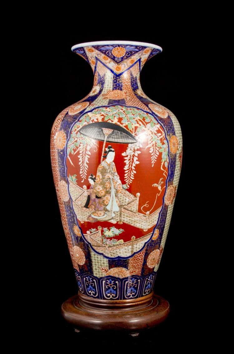 An important japanese meiji period imari floor vase height 30 in buy online view images and see past prices for an important japanese meiji period imari floor vase height 30 in invaluable is the worlds largest reviewsmspy