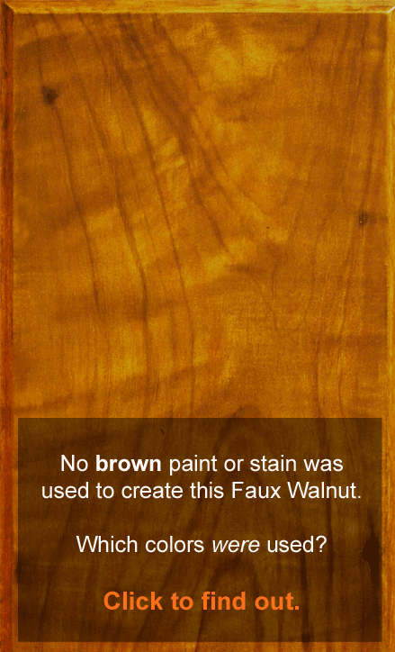 Faux Wood Paint Colors are not as obvious as they seem. In fact, they're down right elusive and notoriously hard to figure out. This post takes all the guess work out of the process.