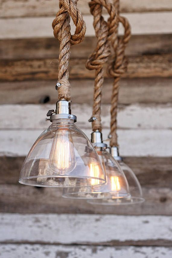 The Snow Pendant Light Industrial Rope Fixture