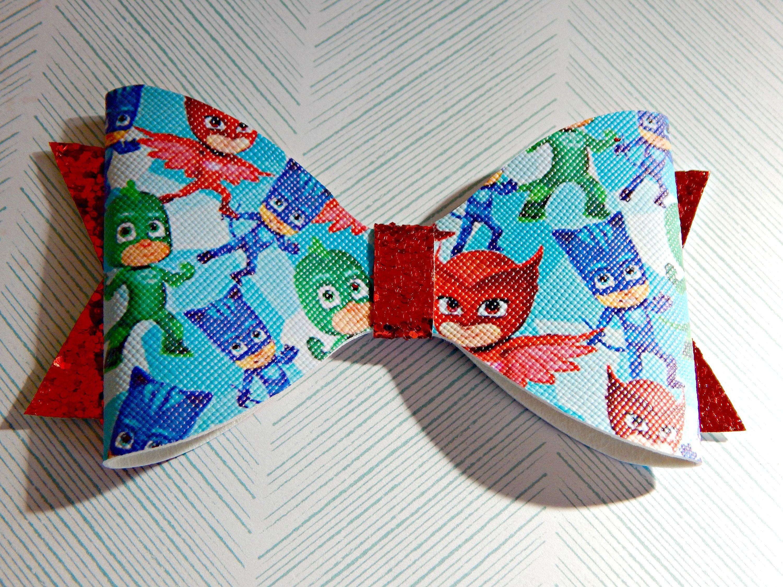 Toddler Hair Bows, Little Girl Bows PJ Masks Hair Bow