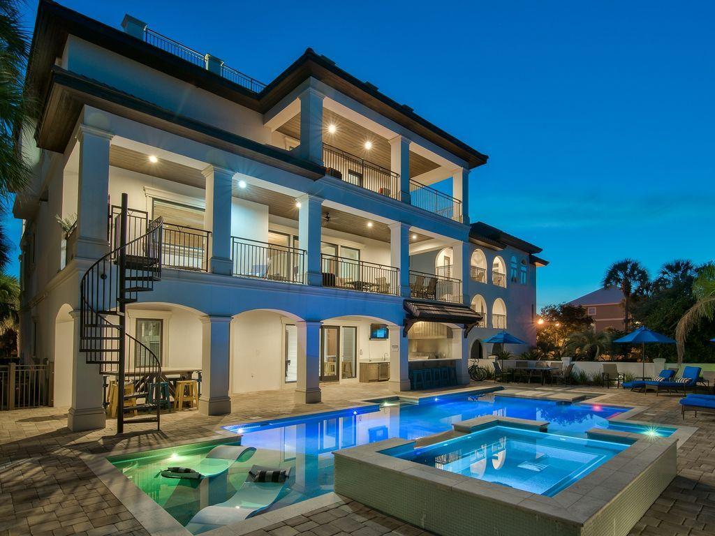Spectacular Destiny West Home W Huge Pool Gulf Views Destin Modern Beach House Destin Vacation Rental