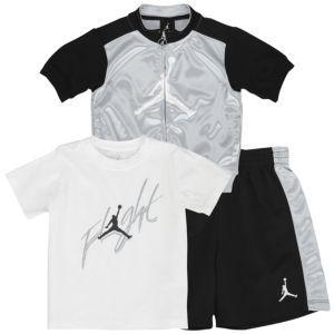 c34b4c5111d227 Jordan Flight 3 Piece Set - Infants - Basketball - Clothing - Wolf  Grey Black White