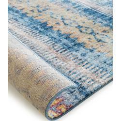 benuta Teppich Tara Multicolor/Blau 200×290 cm – Vintage Teppich im Used-Look benuta