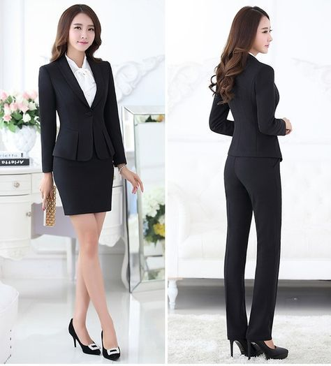 Trajes pantalón formales para mujeres trajes de negocios para conjuntos de  ropa de trabajo chaqueta gris para mujer oficina estilos uniformes trajes  de ... b48300f66e19