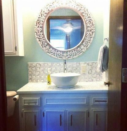 S 11 Low Cost Ways To Replace Or Redo A Hideous Bathroom Vanity Bathroom Ideas Painted Furniture With Images Diy Bathroom Diy Bathroom Vanity Vanity Countertop