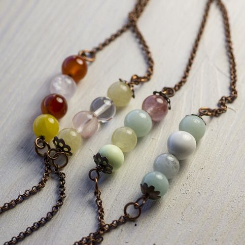 Lush Long Necklace from Embergrass Jewelry