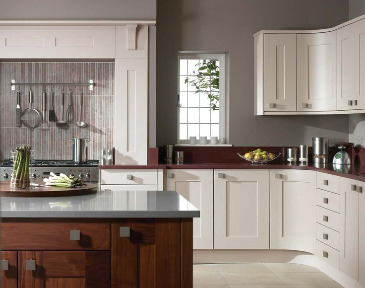 Cream Kitchen Cabinets Gray Walls Google Search Kitchen Design