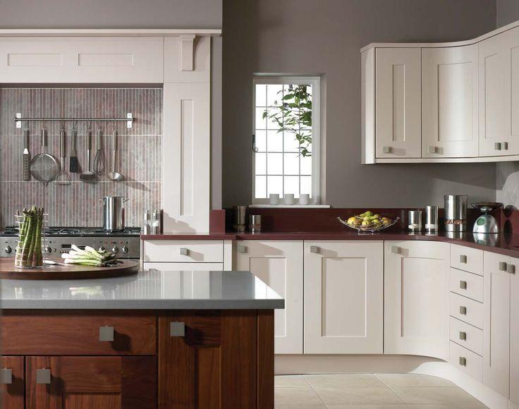 cream kitchen cabinets gray walls - Google Search | kitchen wall ...
