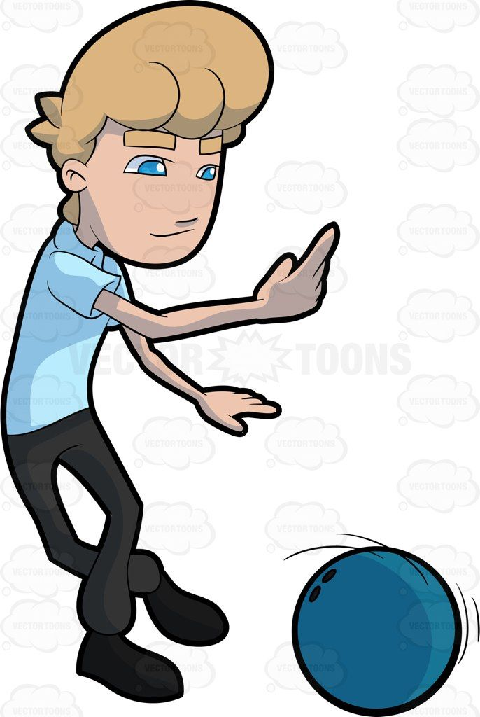 A Man Releasing The Bowling Ball To Roll Onto The Aisle Bowling Ball Bowling Ball