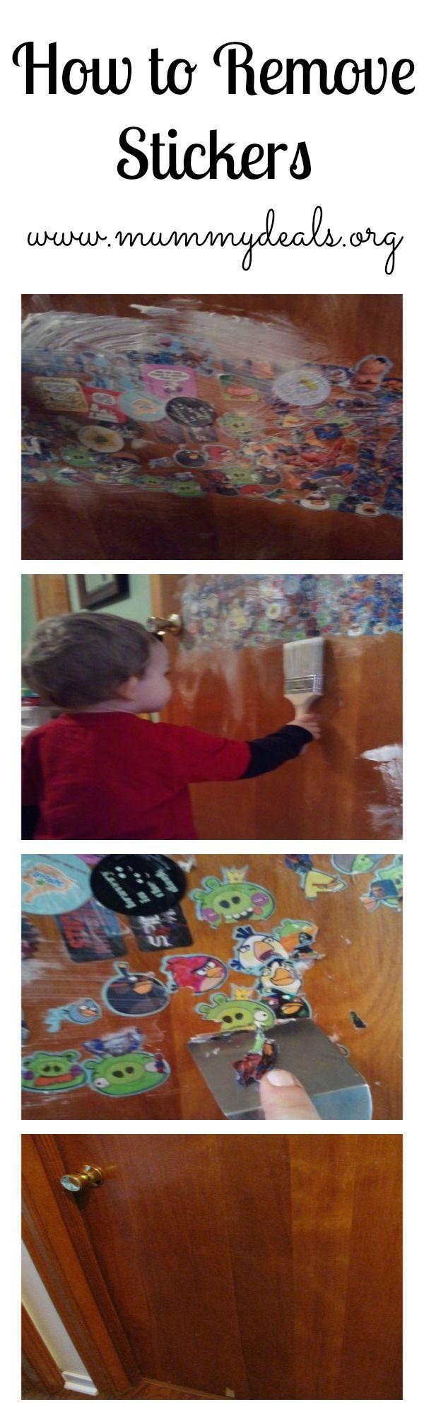 How To Remove Stickers Mummy Deals Sticker Removal Diy Cleaning Products Diy Cleaning Products Recipes [ 2000 x 600 Pixel ]