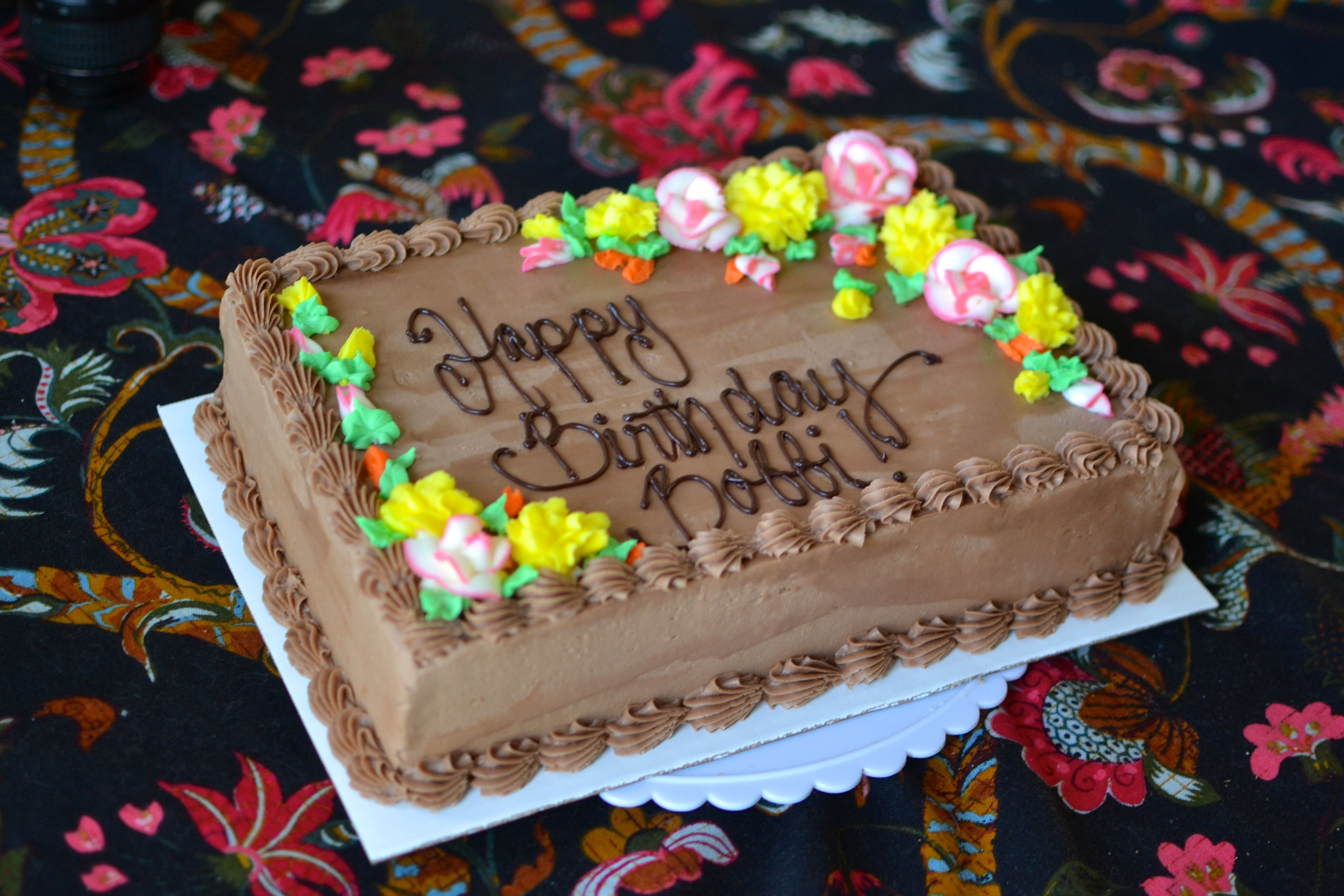 Chocolate Sheet Cake With Roses Smores Cake Design With Images