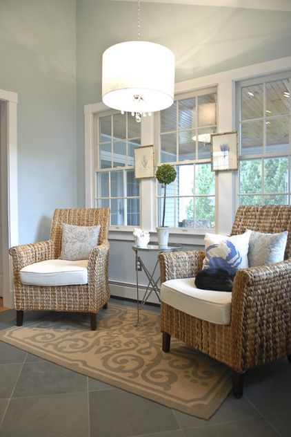 Ben Moore Smoke. | Small sitting rooms, Sunroom furniture ...