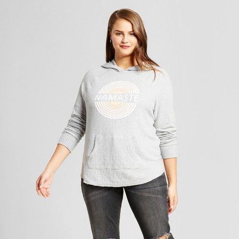 19477e322d8 Women s Plus Size Namaste Graphic Hoodie Sweatshirt - Grayson Threads  (Juniors ) Gray -