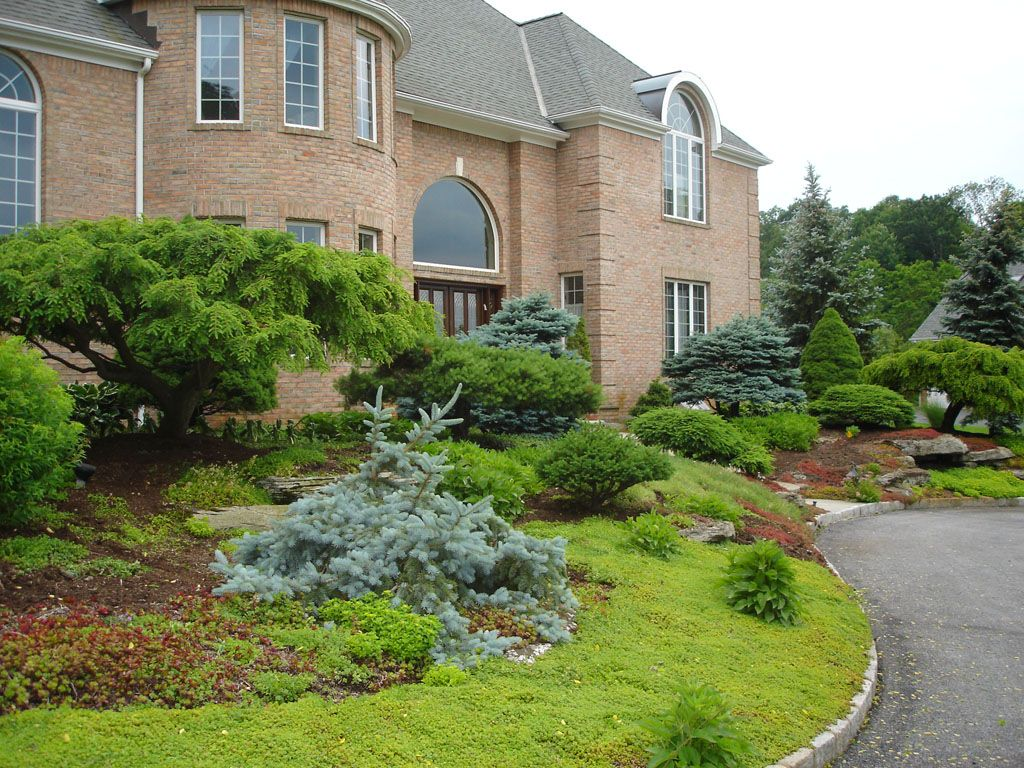 Landscaping And Garden Design In Armonk, NY: This Front Yard Landscaping Is  In Armonk