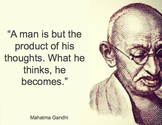 Gandhi Quote A Man Is But A Product Of His Thoughts Gandhi Jayanti Quotes Ghandi Quotes Inspirational Quotes