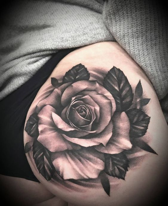 35 Charming And Irresistible Flower Tattoos Designs Charming And Irresistible Flower Tattoos Realistic Rose Tattoo Rose Drawing Tattoo Rose Tattoos