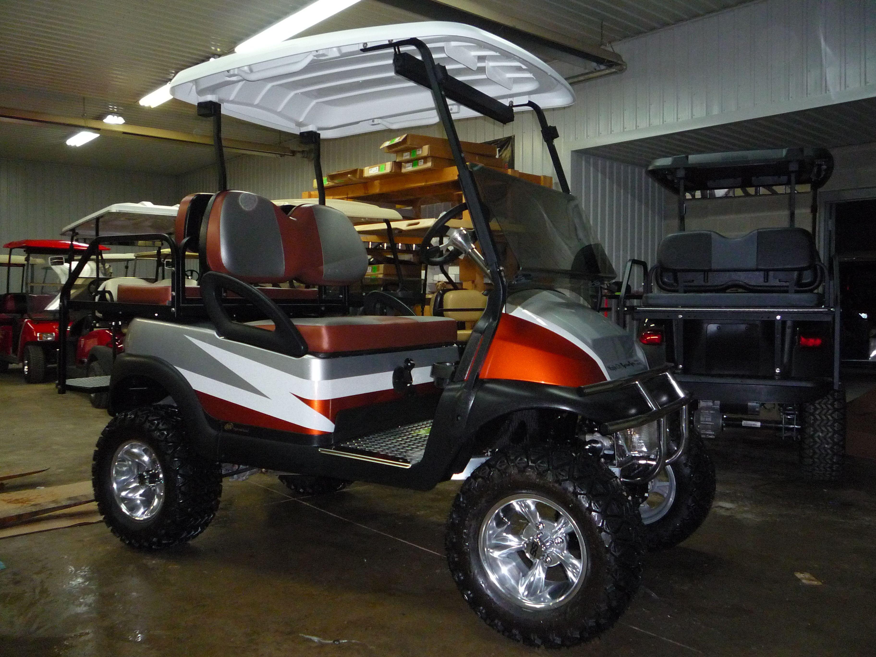 Custom Club Car Orange And Silver Golf Cart Ideas Pinterest