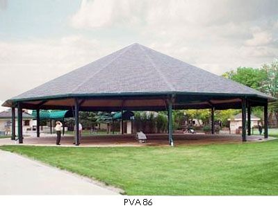 Twelve Sided Hip Roof Shelter Poligon Steel Park Shelter Picnic Shelter Carousel House Pavilions Building A Porch Roof Architecture Metal Roof Installation
