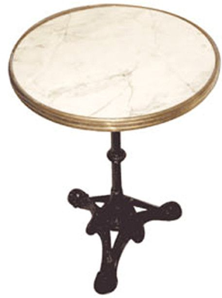 FRENCH BISTRO TABLE, Black Or White Marble Finish By WA HOO DESIGNS