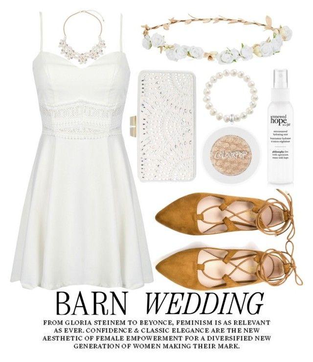 """""""Barn wedding"""" by noraaaaaaaaa ❤ liked on Polyvore featuring Robert Rose, BCBGMAXAZRIA, Dorothy Perkins, Thomas Sabo, bestdressedguest and barnwedding"""