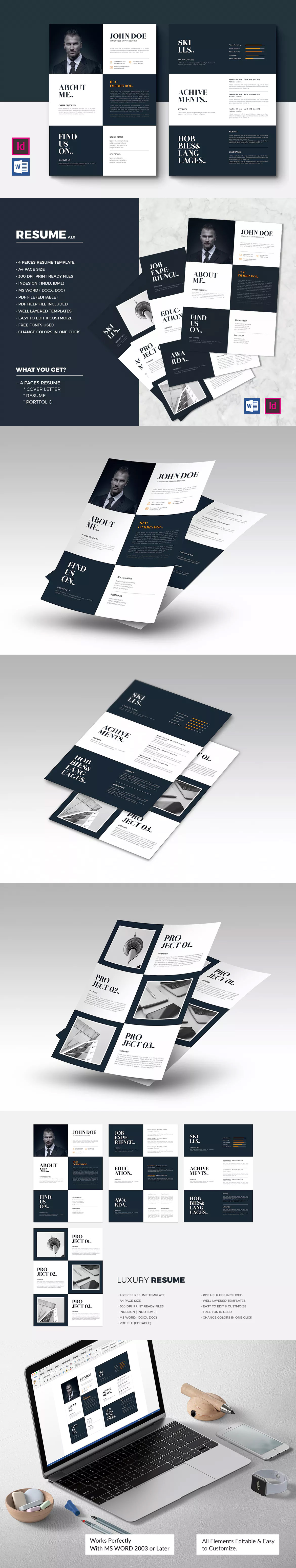 Luxury Resume Template Indd  Resume Templates    Template