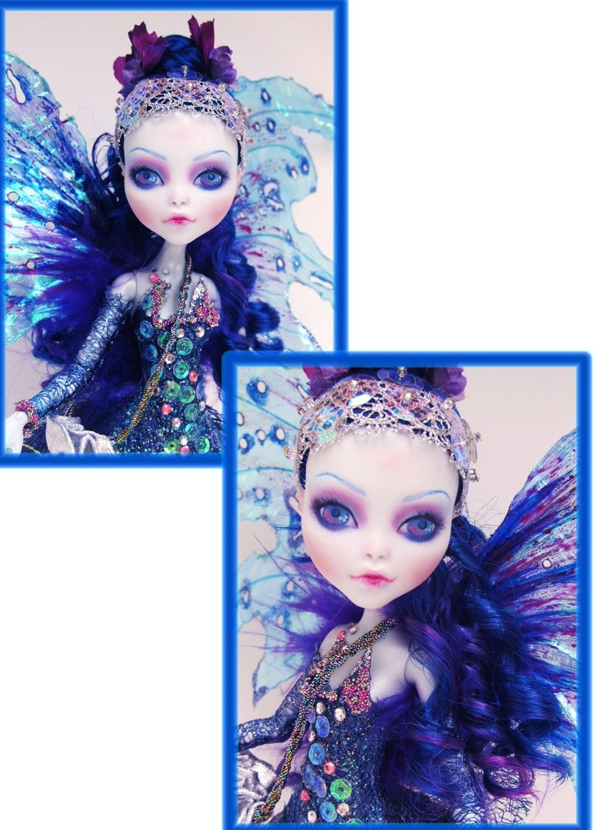 Custom Lagoona Monster High Fairy - OOAK Repaint and Outfit by Fantasy Dolls by Donna Anne. Find me on Facebook - https://www.facebook.com/pages/Fantasy-Dolls-by-DonnaAnne/837776306265877