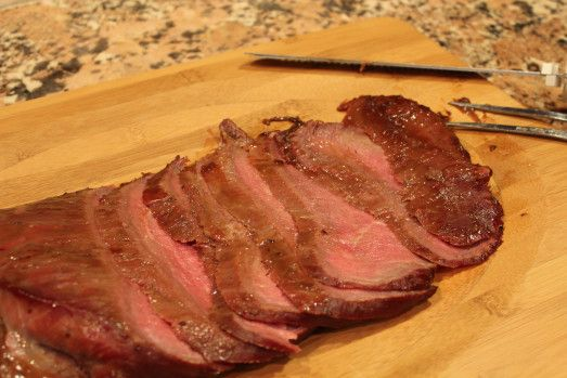 Smoked Soy-Glazed Flank Steak   So delicious, you will want to try it.