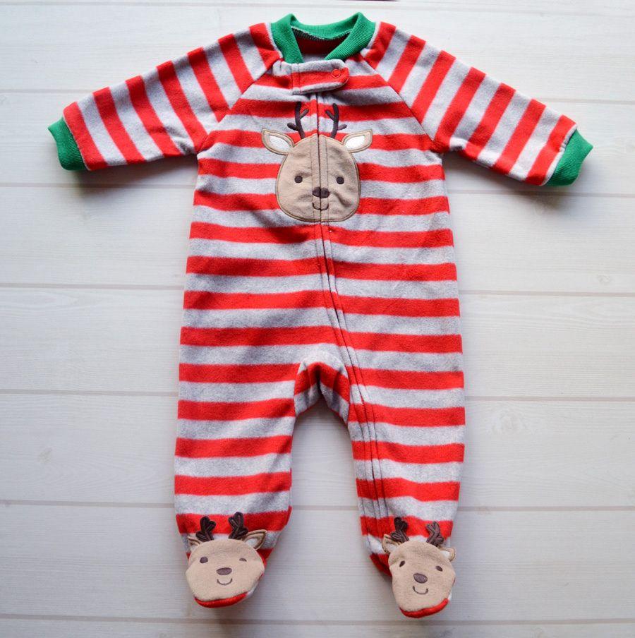 Дешевое Картеры прекрасный рождественский олень ребенка ползунки ...