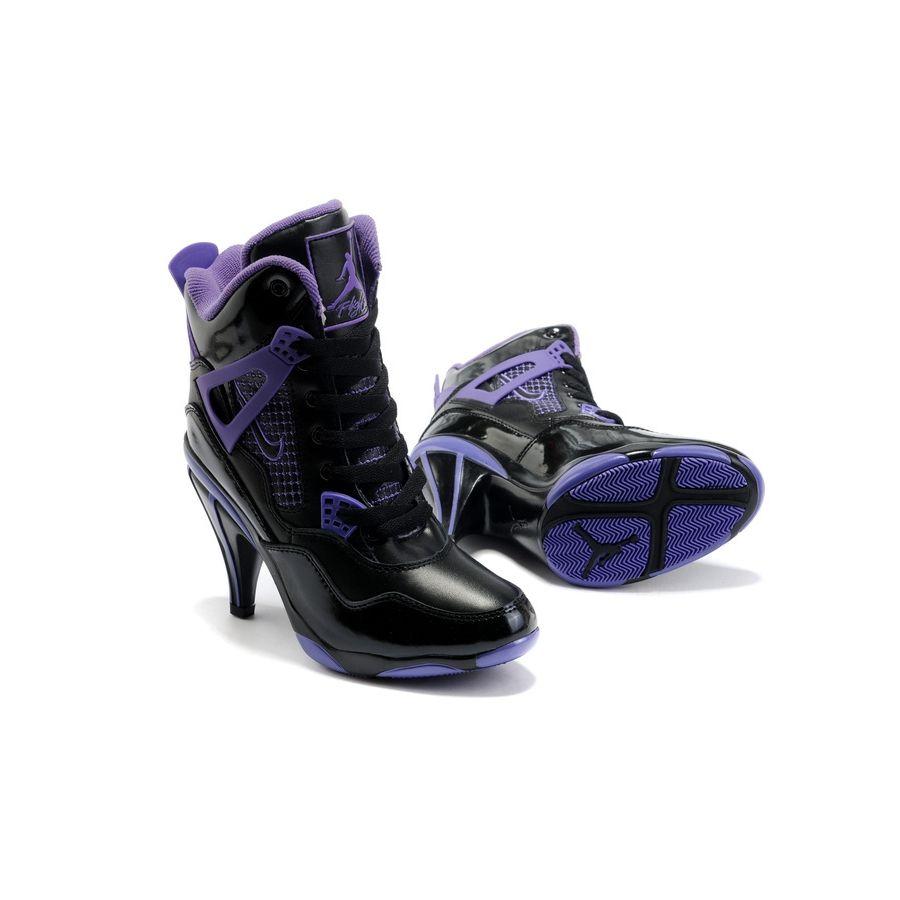 Buy Air Jordan 4 IV Womens Heels Ankle Boots Black Purple In Hot Sale from  Reliable Air Jordan 4 IV Womens Heels Ankle Boots Black Purple In Hot Sale  ...