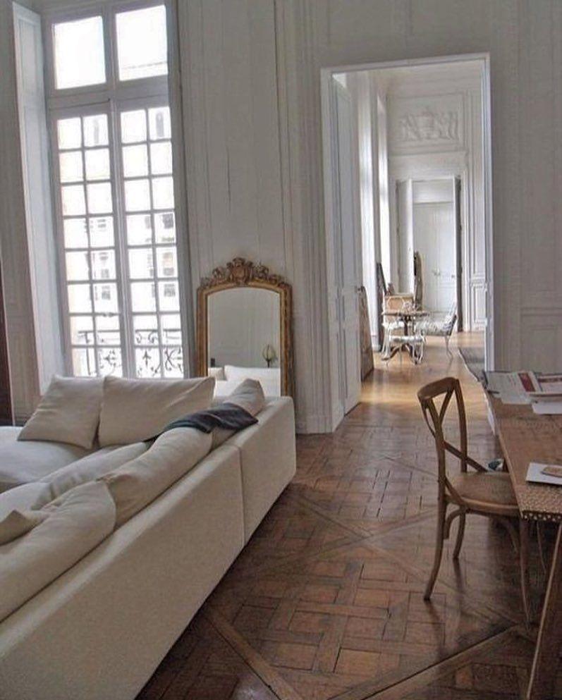 The Parisian Chique On Instagram French Apartments Theparisianchique House Interior Home Parisian Living Room