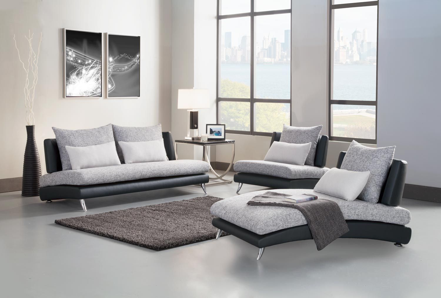 Homelegance Renton Sofa Set Grey Black Polyester Bi Cast. Wooden Living Room Furniture. Sectional Livg Room Sets As Wide Furniture Sumpto Table And. Home Design and Interior Design Gallery Of Awesome Ideas For