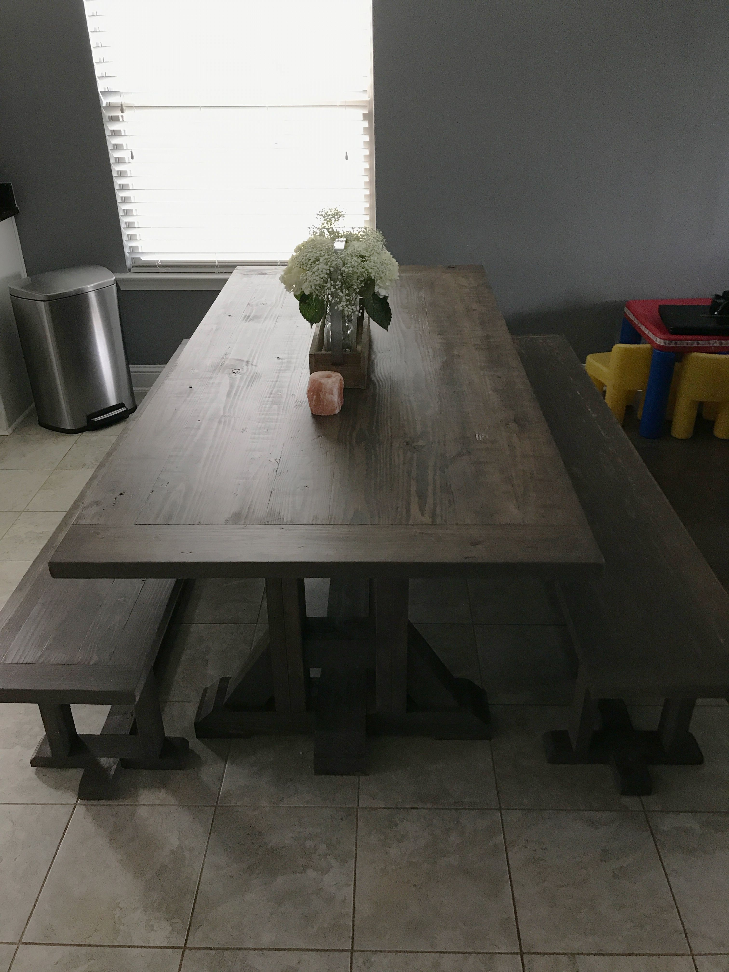 Diy Pottery Barn Inspired Dining Table For 100 Dining