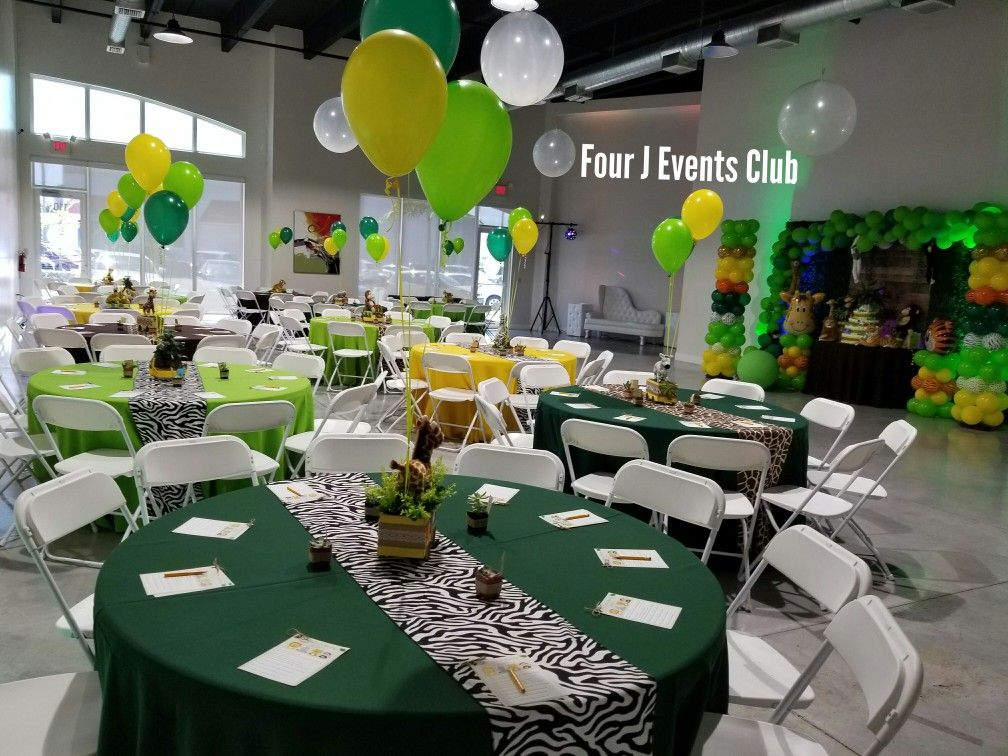 Safari Decorations Animal Decorations Indoor Party Rental Banquet Hall Baby Shower Www Fourjeventsclub Com Safari Decorations Events Place Safari Baby Shower