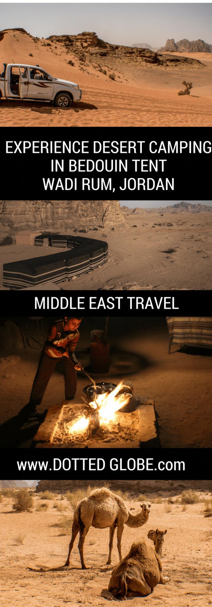 Desert camping in a Bedouin tent in Wadi Rum - DOTTED GLOBE #wadirum